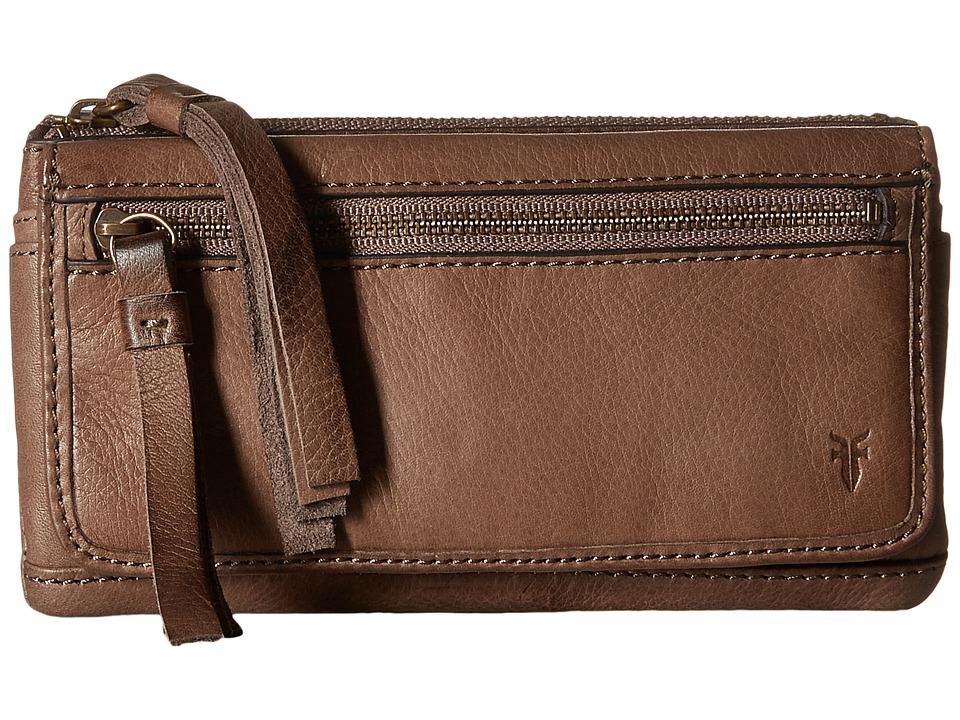 Frye - Heidi Wallet (Grey Soft Vintage Leather) Wallet Handbags