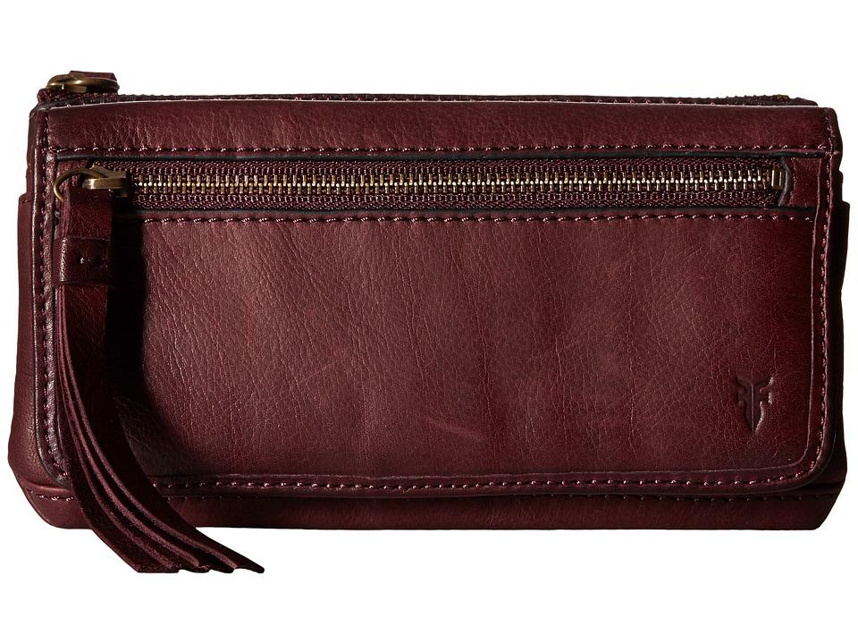 Frye - Heidi Wallet (Plum Soft Vintage Leather) Wallet Handbags