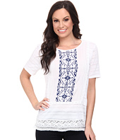 Lucky Brand - Panel Embroidered Top