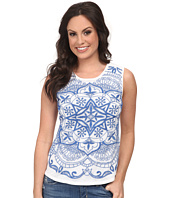Lucky Brand - Embroidered Mesh Tank Top
