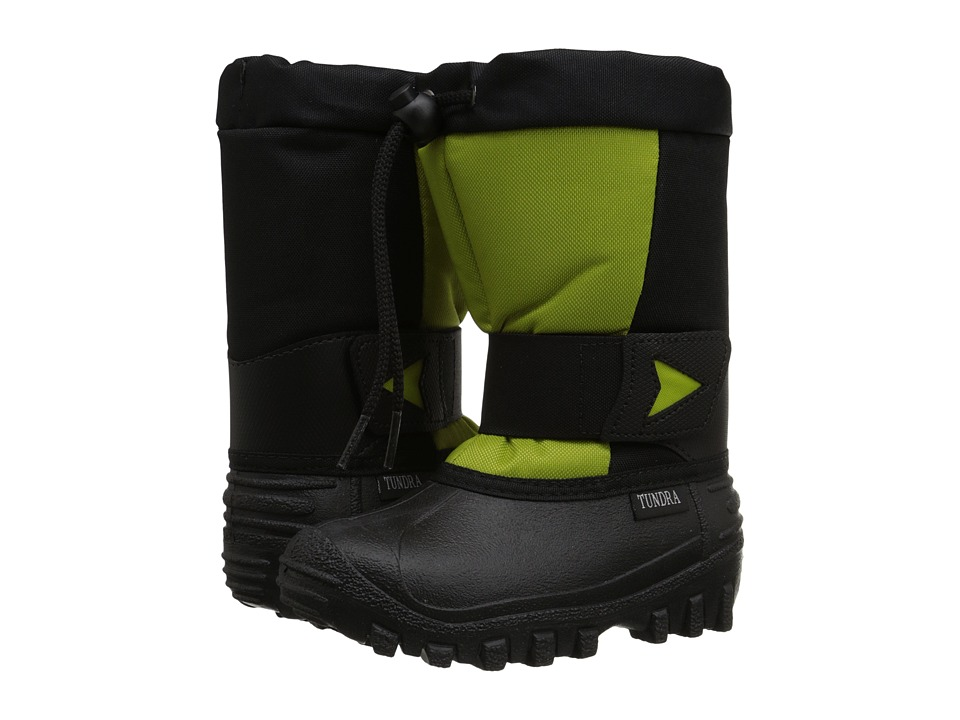 Tundra Boots Kids Artic Drift Toddler/Little Kid Black/Lime Green Kids Shoes