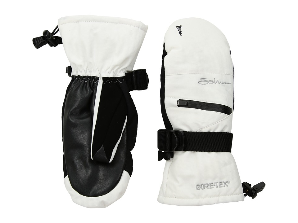 Seirus Gore Tex Soundtouch Prism Mitt White Ski Gloves