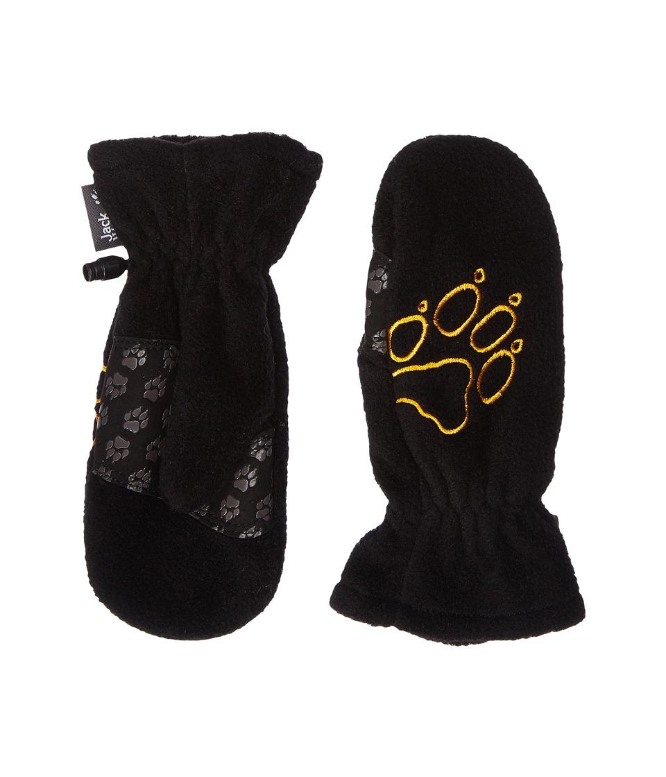 Jack Wolfskin Fleece Mitten (Toddler/Little Kid) (Black) Extreme Cold Weather Gloves