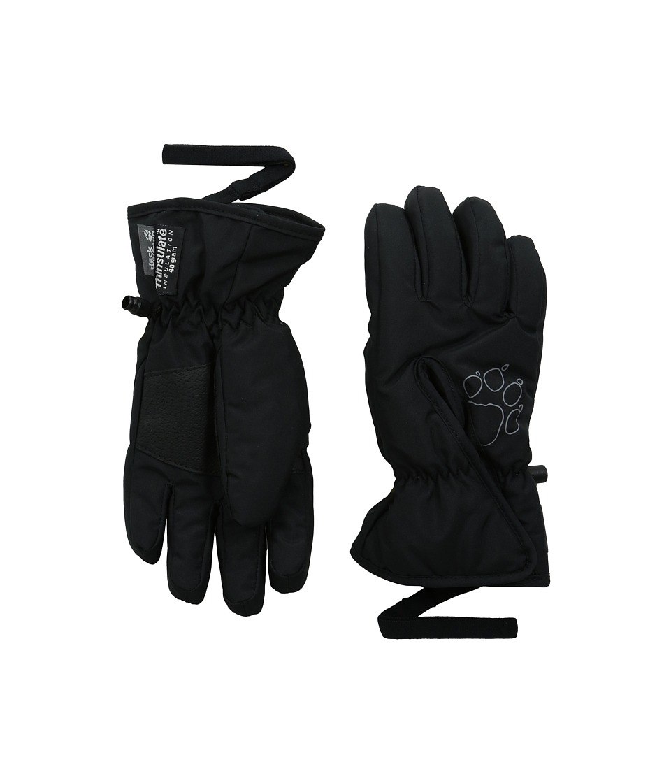 Jack Wolfskin Easy Entry Glove (Little Kid/Big Kid) (Black) Extreme Cold Weather Gloves