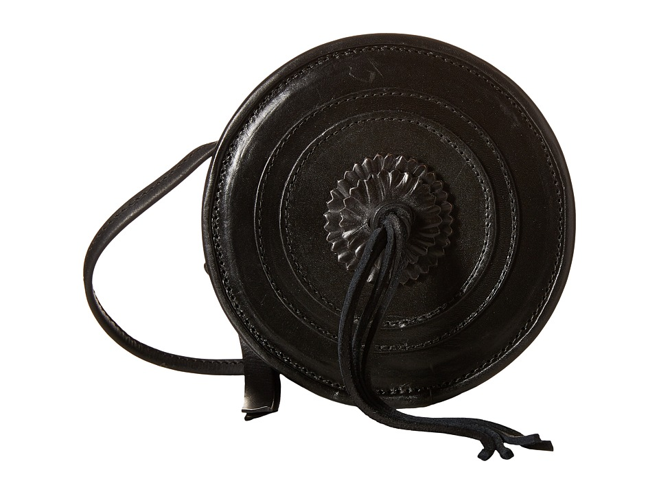 Frye - Layla Concho Circle Bag (Black Smooth Full Grain) Shoulder Handbags