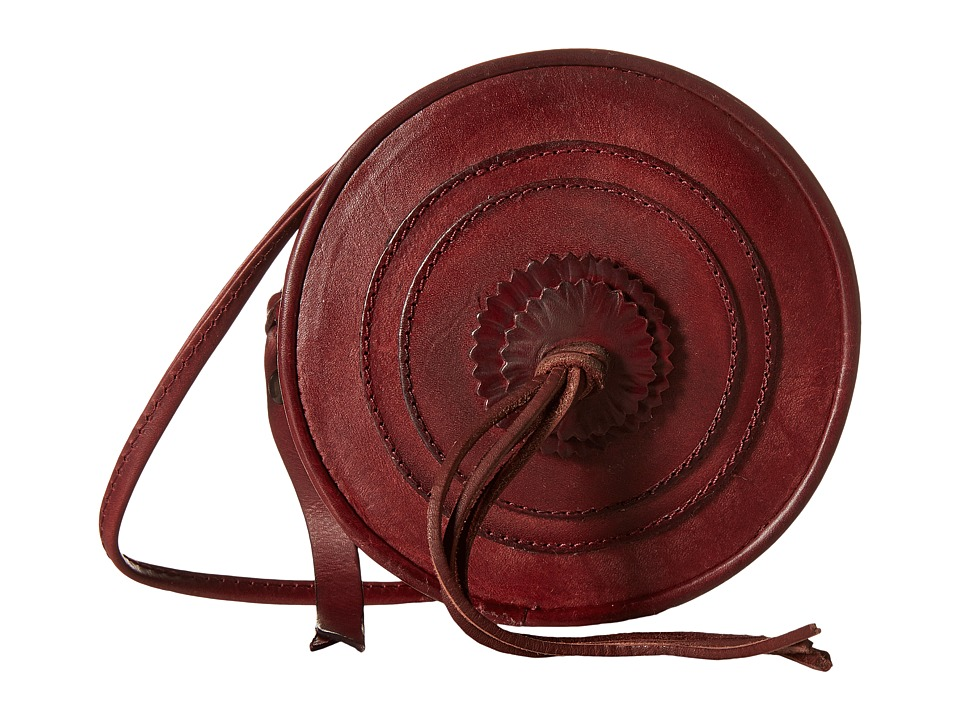 Frye - Layla Concho Circle Bag (Bordeaux Smooth Full Grain) Shoulder Handbags