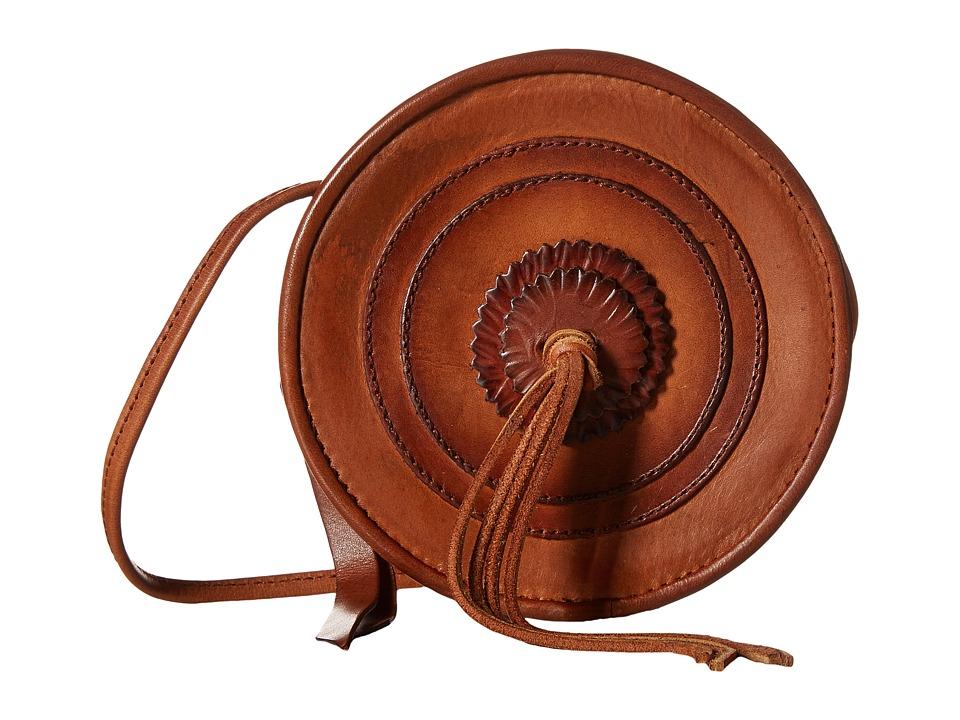 Frye - Layla Concho Circle Bag (Cognac Smooth Full Grain) Shoulder Handbags