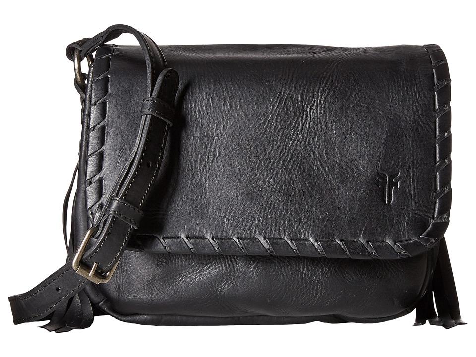 Frye - Layla Concho Crossbody (Black Smooth Full Grain) Cross Body Handbags