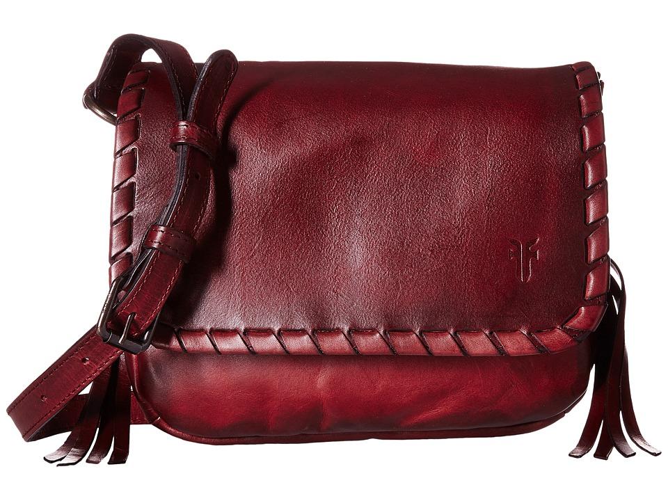 Frye - Layla Concho Crossbody (Bordeaux Smooth Full Grain) Cross Body Handbags