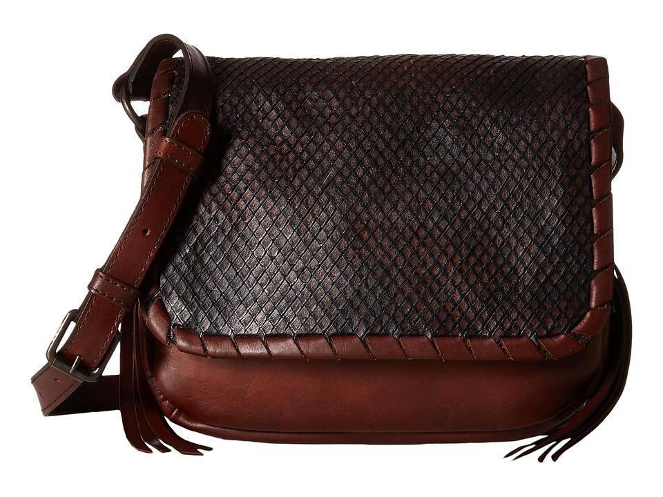 Frye - Layla Concho Crossbody (Redwood Smooth Vintage Leather/Cut Leather) Cross Body Handbags