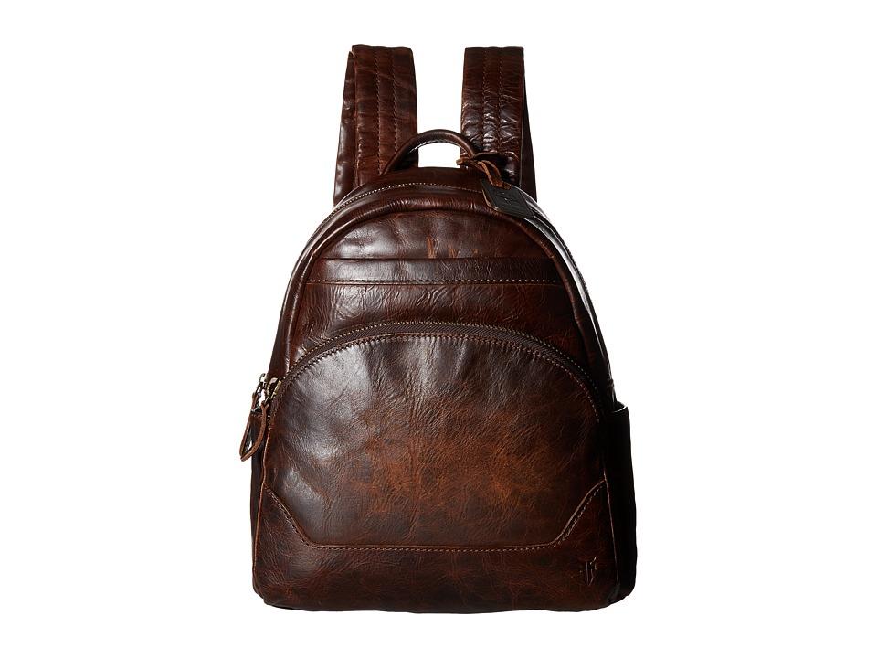 Frye - Melissa Backpack (Dark Brown Antique Pull Up) Backpack Bags