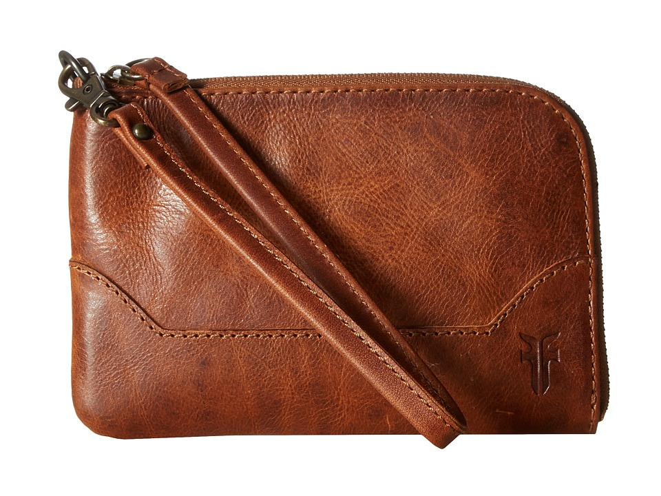 Frye - Melissa Wristlet (Cognac Antique Pull Up) Wristlet Handbags