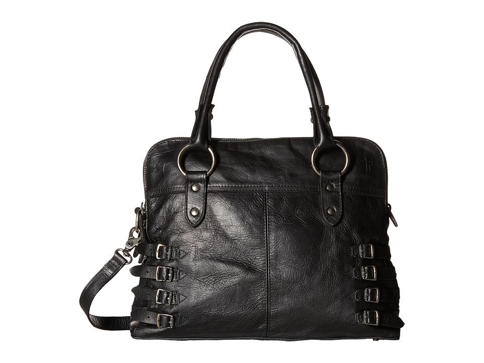 Frye - Selena Belted Zip Satchel (Black Vintage Leather) Satchel Handbags