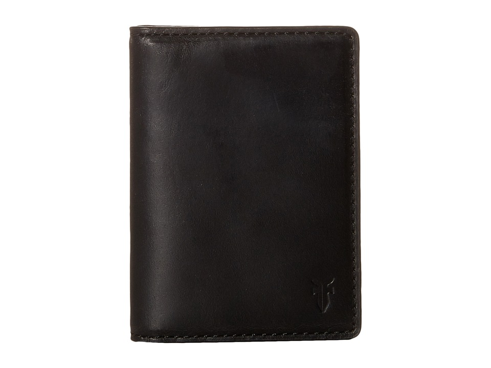 Frye - David Bi-Fold (Black Smooth Pull Up) Bi-fold Wallet