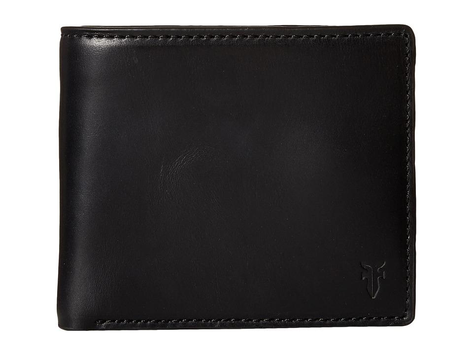 Frye - David Double Billfold (Black Smooth Pull Up) Bill-fold Wallet