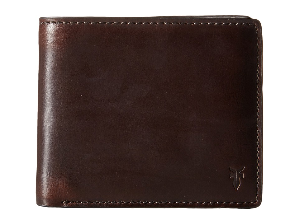 Frye - David Double Billfold (Espresso Smooth Pull Up) Bill-fold Wallet