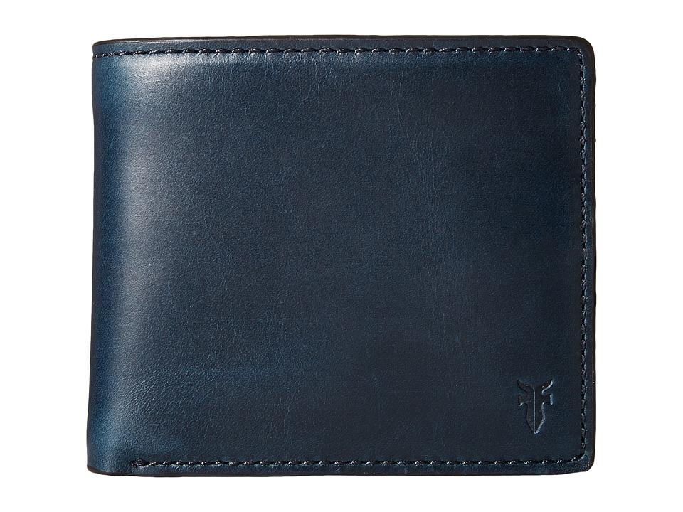 Frye - David Double Billfold (Navy Smooth Pull Up) Bill-fold Wallet