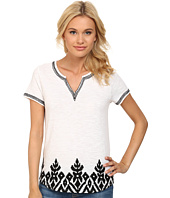 Lucky Brand - Bordered Geo Top