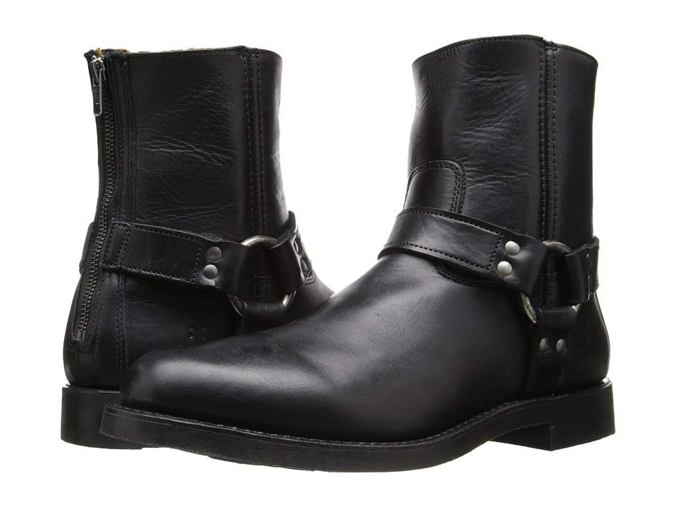 Frye - Clinton Harness Back Zip (Black Oiled Vintage) Men