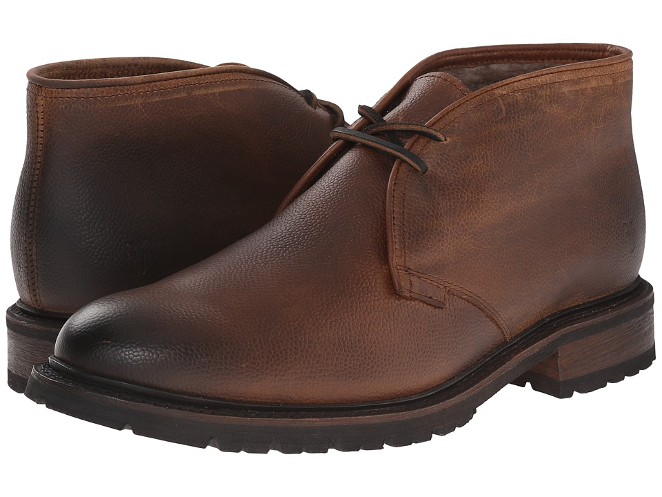 Frye - James Lug Chukka Shearling (Whiskey WP Soft Pebbled Full Grain) Men