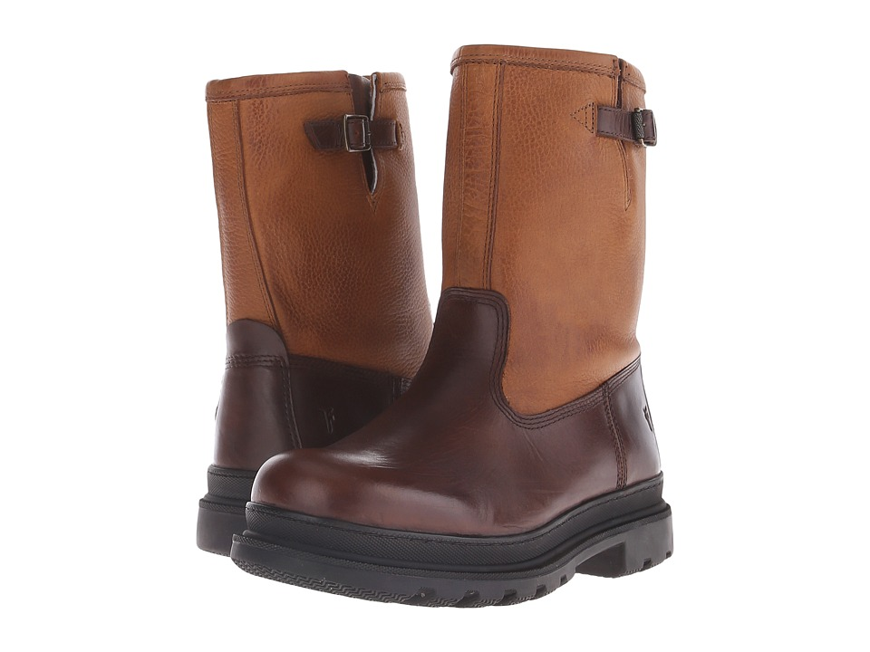 Frye Riley Pull On Espresso Multi WP Smooth Pull Up Mens Pull on Boots