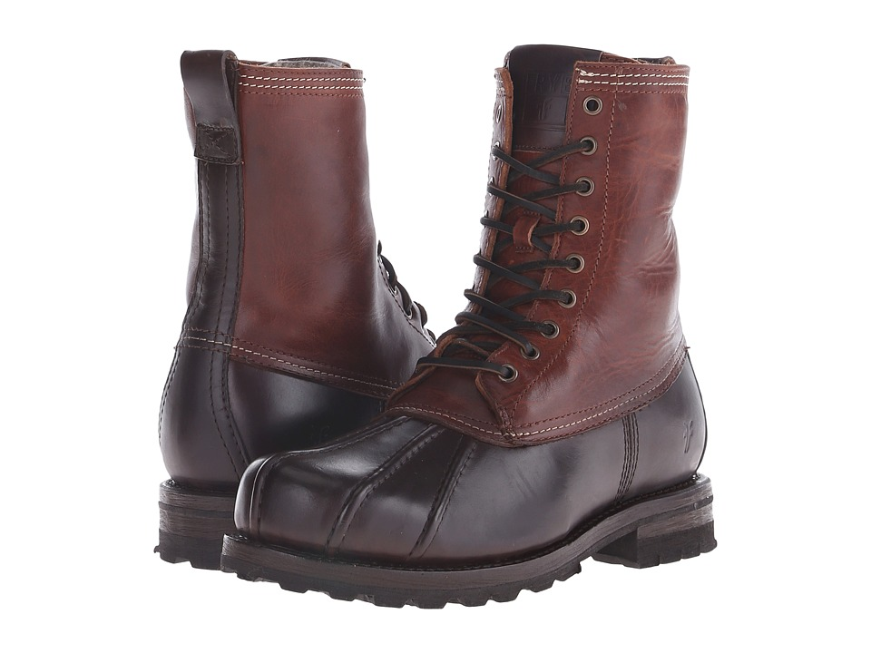 Frye - Warren Duckboot (Espresso Multi WP Smooth Pull Up/Shearling Lined) Mens Boots