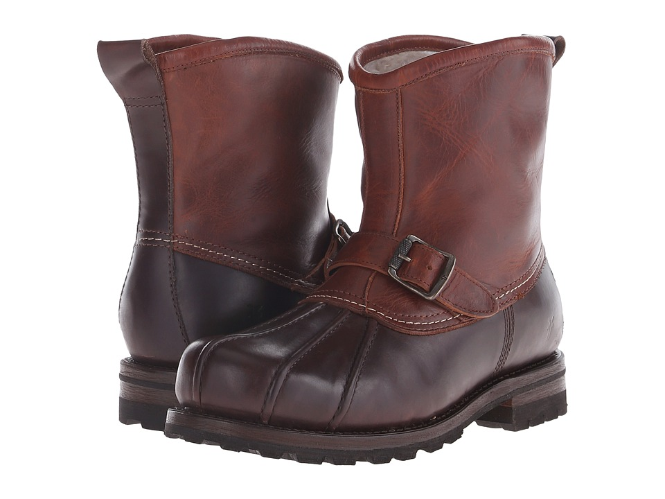 Frye Warren Duck Engineer Espresso Multi WP Smooth Pull Up/Shearling Lined Mens Pull on Boots