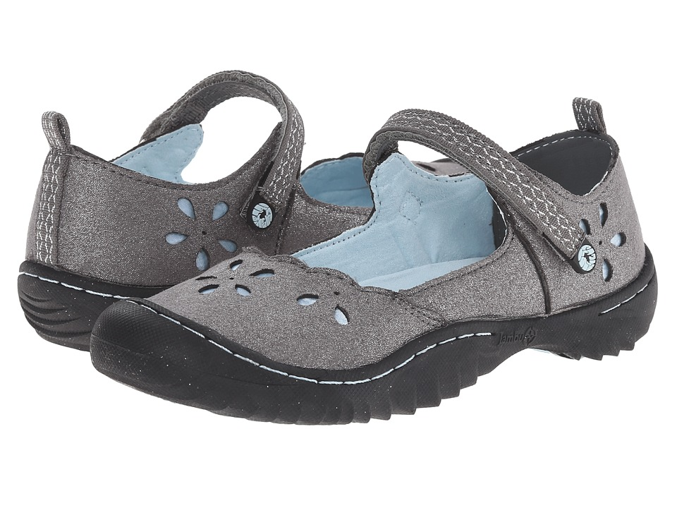 Jambu Kids - Greenwich 3 (Toddler/Little Kid/Big Kid) (Silver/Light Blue) Girl