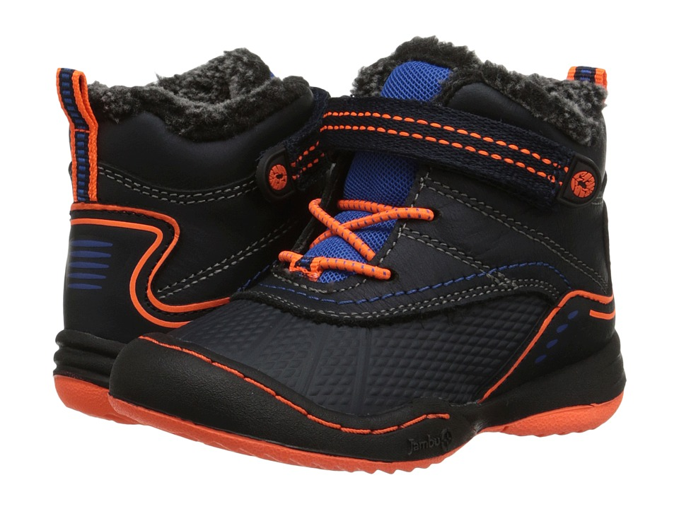 Jambu Kids Baltoro Toddler Navy/Orange Boys Shoes