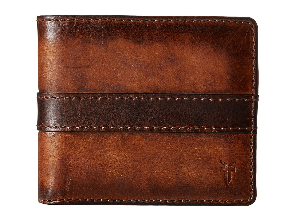 Frye - Oliver Billfold (Dark Brown Antique Pull Up) Bill-fold Wallet