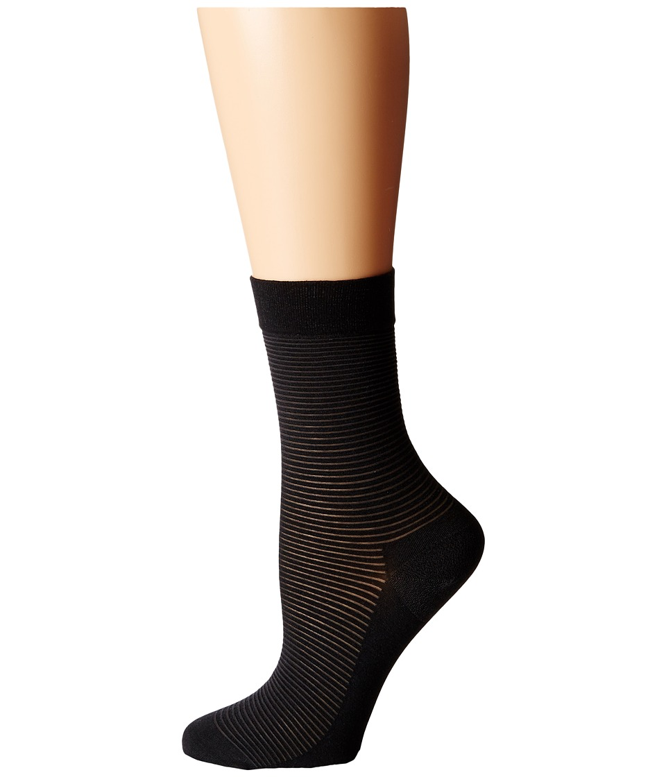 Wolford Cotton Stripes Socks Anthracite/Black Womens Crew Cut Socks Shoes