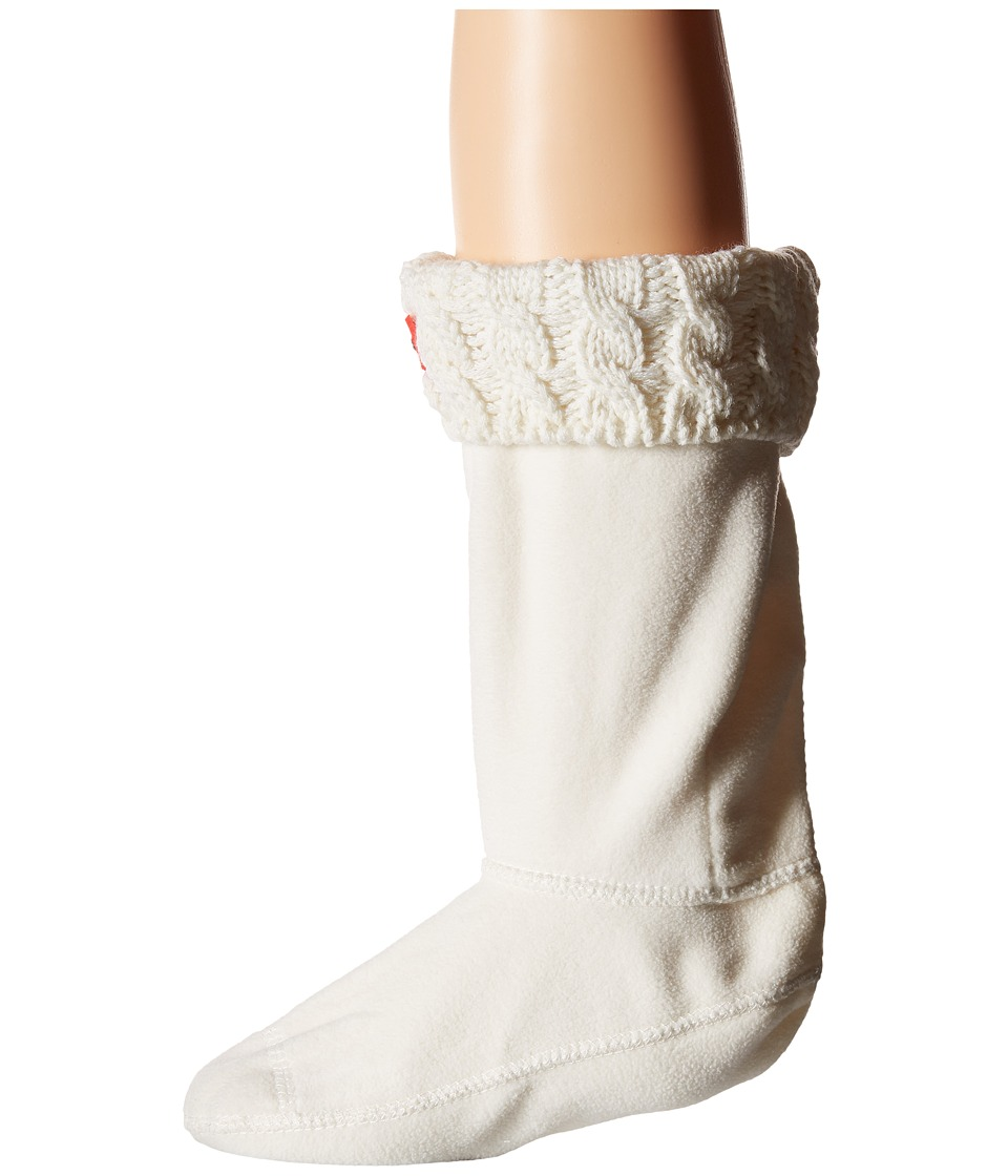 Hunter Kids 6 Stitch Cable Boot Sock Toddler/Little Kid/Big Kid White Kids Shoes