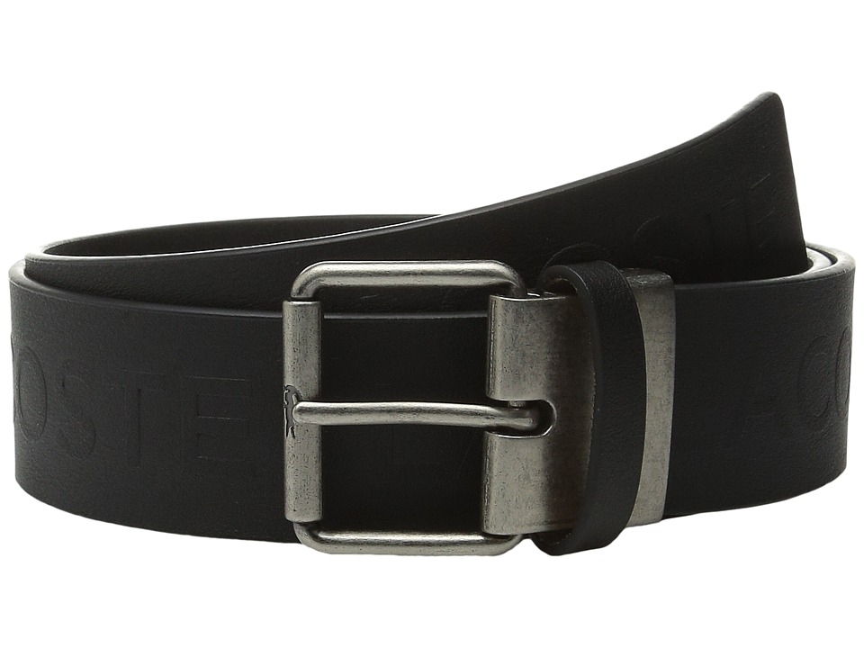 Lacoste All Over Embossed Logo Belt Black Mens Belts