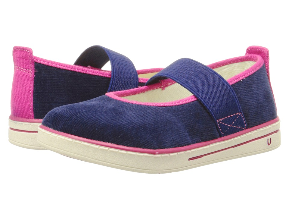 Umi Kids Alia Toddler/Little Kid Navy Girls Shoes