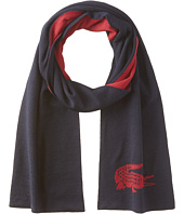 Lacoste - Large Contrast Croc Jacquard Wool Scarf