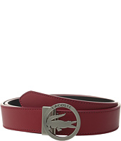 Lacoste - Premium Leather Belt Lacoste Cutout Buckle