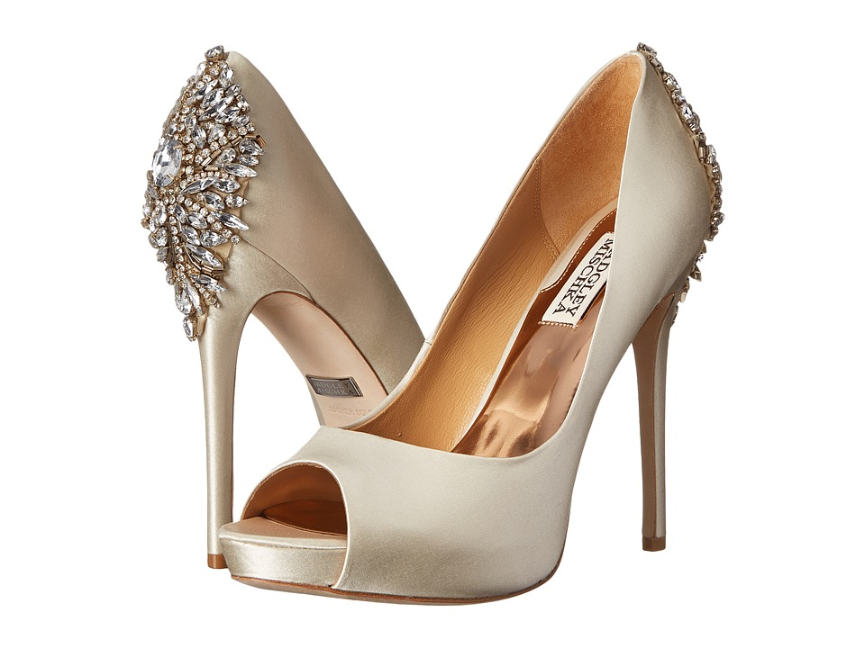 Badgley Mischka Kiara (Ivory Satin) High Heels