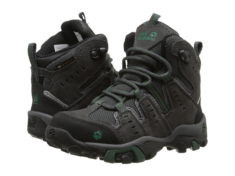 Jack Wolfskin Kids Mountain Storm Waterproof Mid Toddler/Little Kid Beech Green Boys Shoes