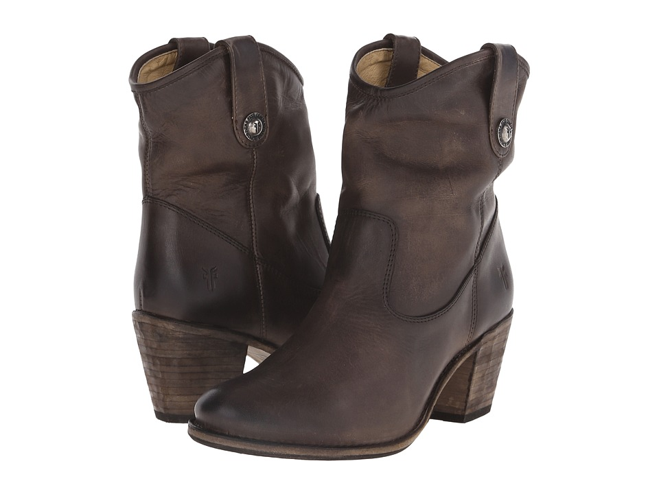 Frye - Jackie Button Short (Slate Antique Pull Up) Womens Dress Pull-on Boots