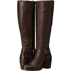 FRYE Malorie Knotted Tall Riding Women's Boot (Dark Brown)