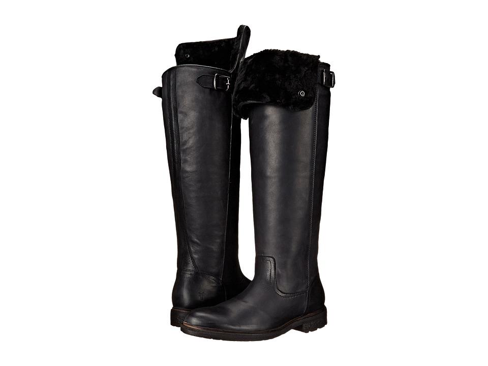 Frye - Mara Button OTK (Black Soft Classic Leather) Cowboy Boots
