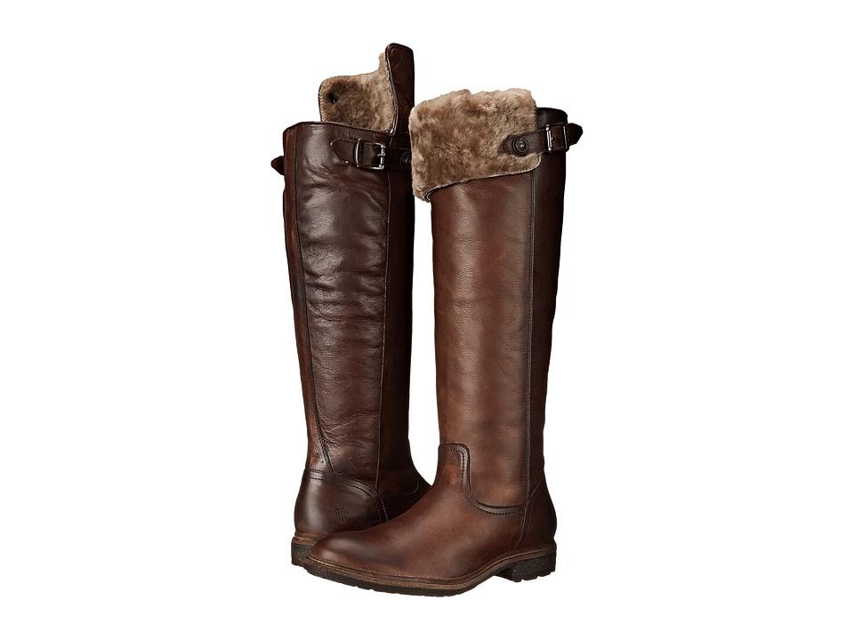 Frye - Mara Button OTK (Dark Brown Soft Classic Leather) Cowboy Boots