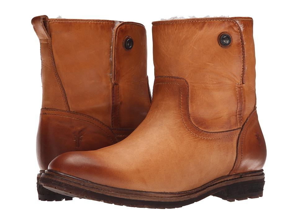 Frye - Mara Button Short (Cognac Soft Classic Leather) Cowboy Boots
