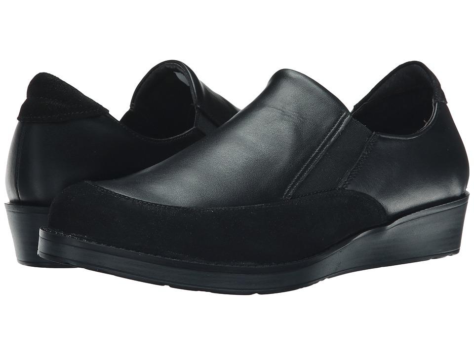 Naot Footwear Cherish Shiny Black Leather/Black Raven Leather Womens Shoes