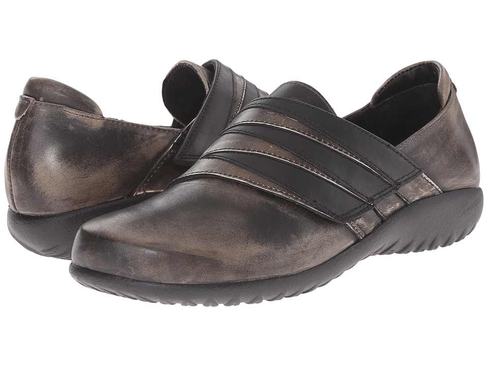 Naot Footwear Rapoka (Vintage Gray Leather/Metal Leather/Jet Black Leather) Women