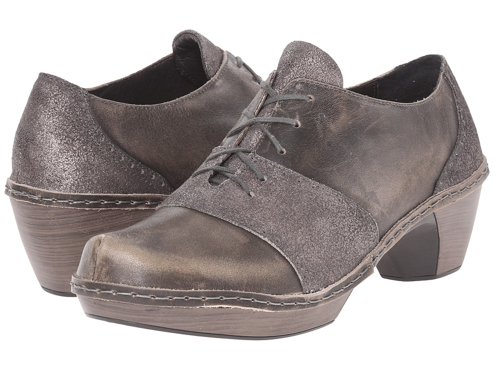 Naot Footwear Besalu Gray Shimmer Leather/Vintage Gray Leather Womens Shoes