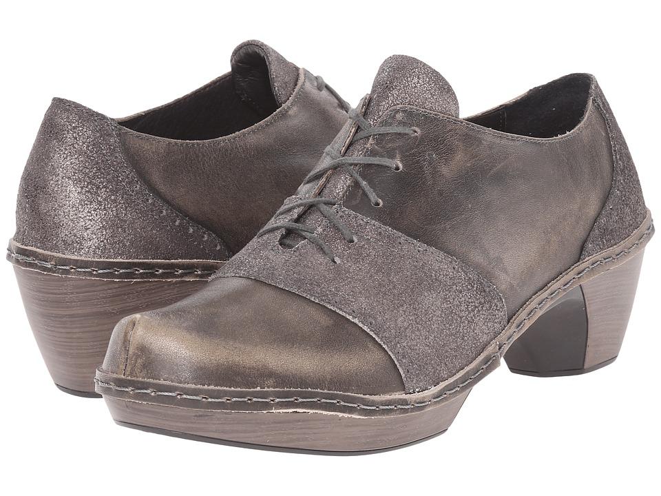 Naot Footwear - Besalu (Gray Shimmer Leather/Vintage Gray Leather) Women