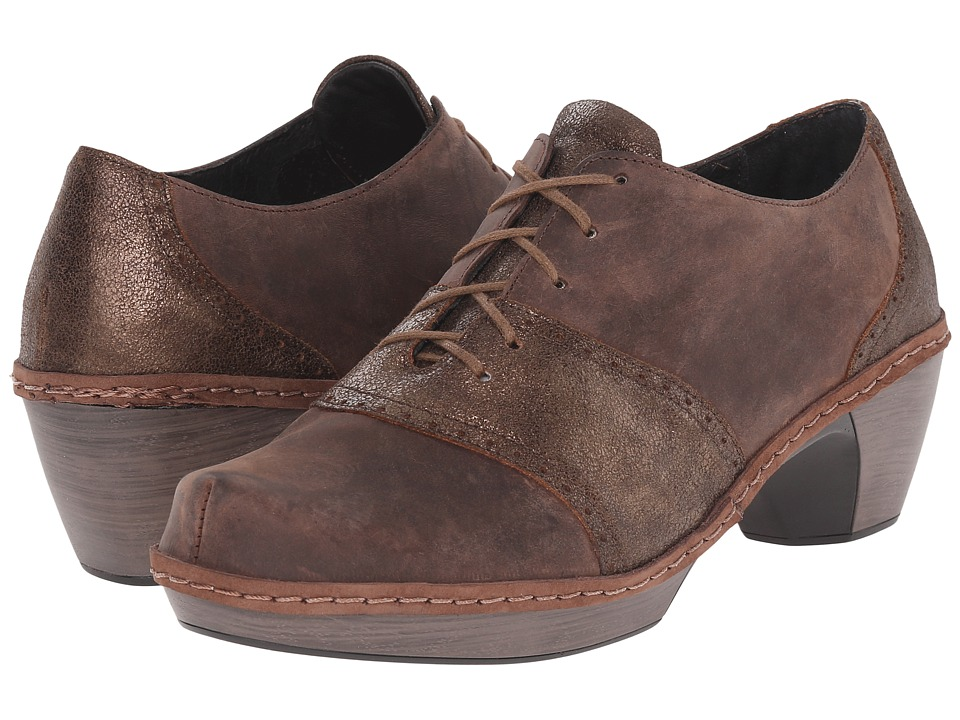 Naot Footwear Besalu Bronze Shimmer Suede/Crazy Horse Leather Womens Shoes