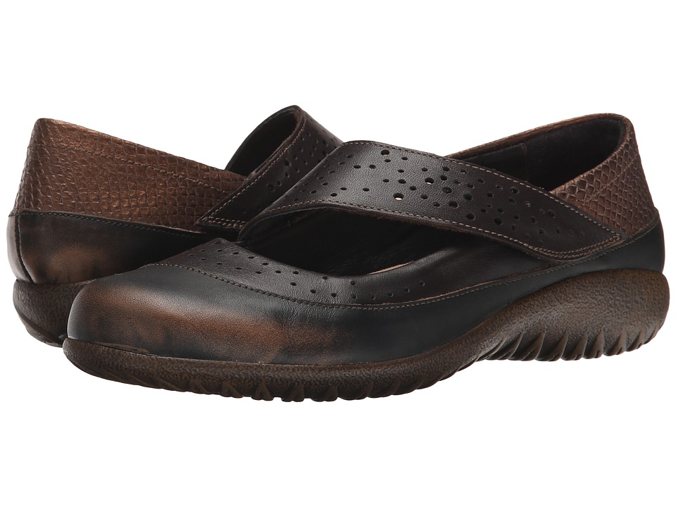 Naot Footwear - Aroha (Volcanic Brown/French Roast/Brown Lizard Leather/Glass Brown) Women