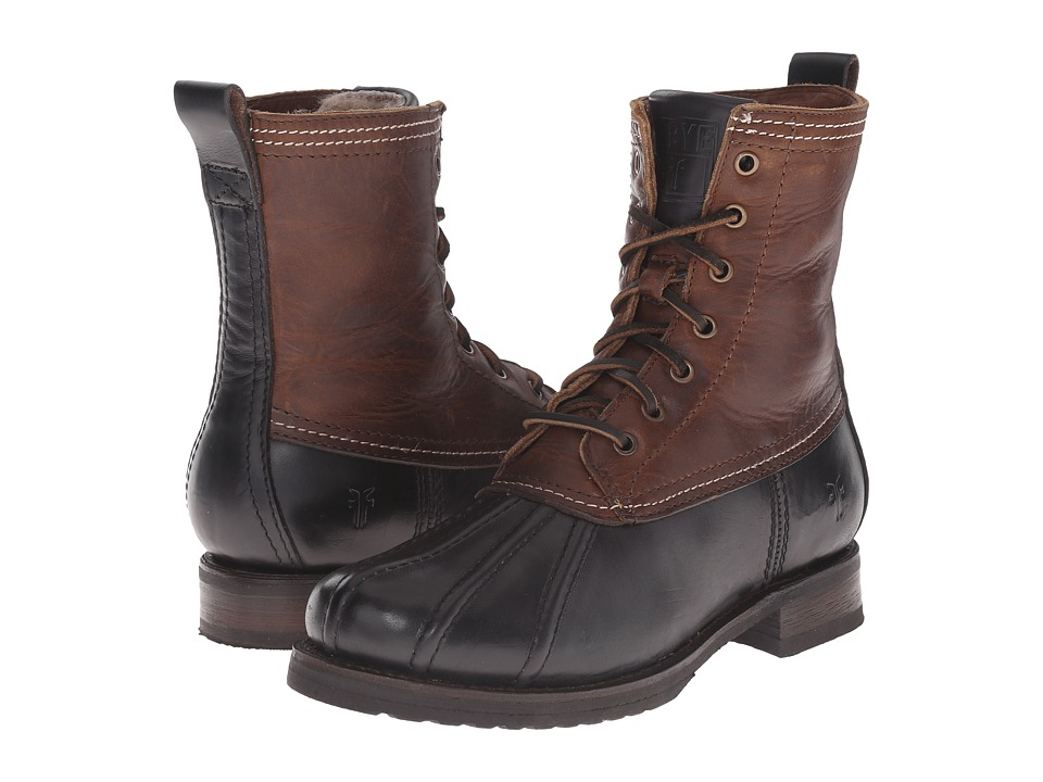 Frye - Veronica Duck Boot (Black Multi Smooth Pull Up/Oiled Vintage) Women